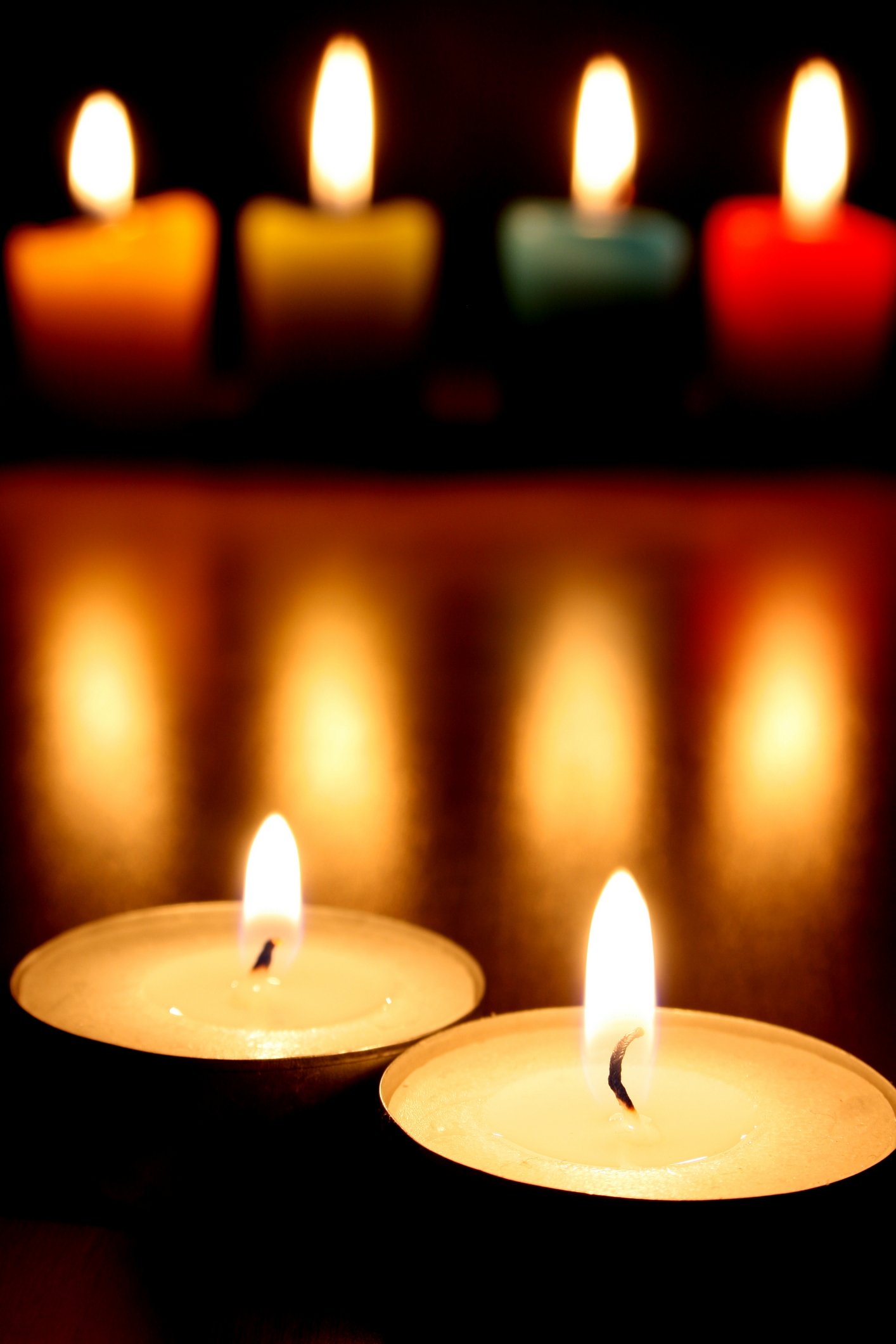 colored candles colouring pages